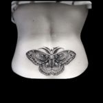 Moth Tattoo on Lower Back