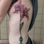 Orchid Tattoo on Ribs