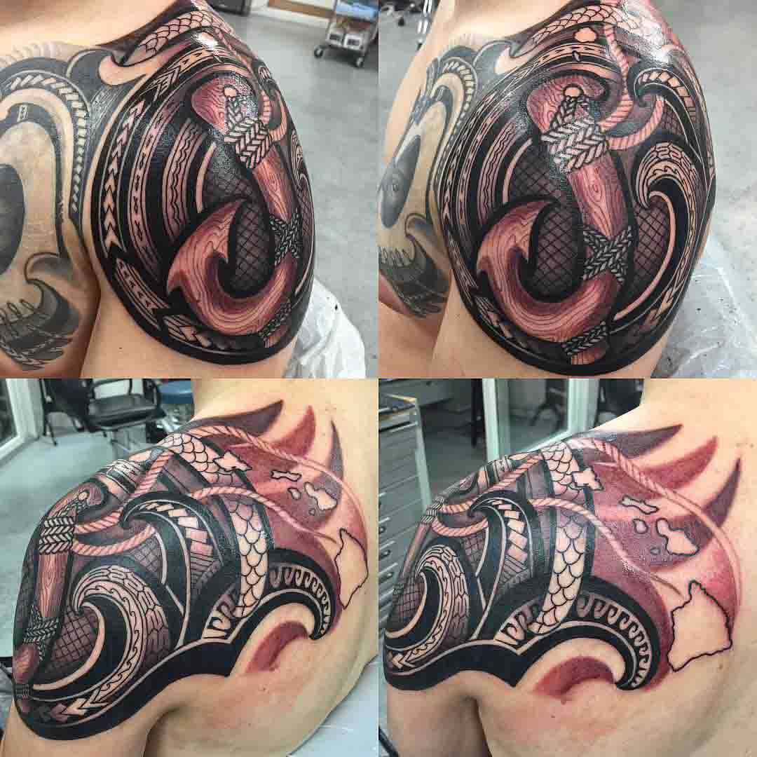 hook tattoo polynesian