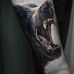 Realistic Bear Tattoo