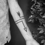 Simple Arrow Tattoo