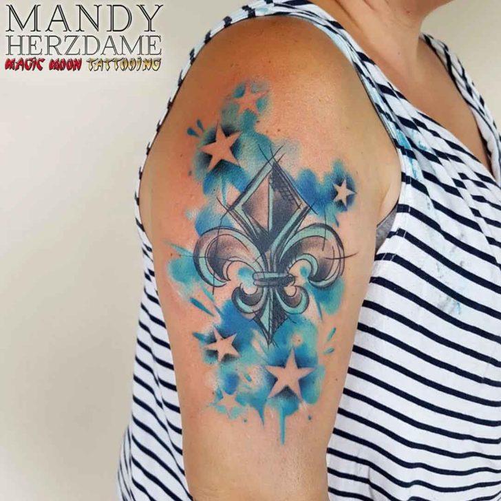 Stars Tattoo Fleur De Lis