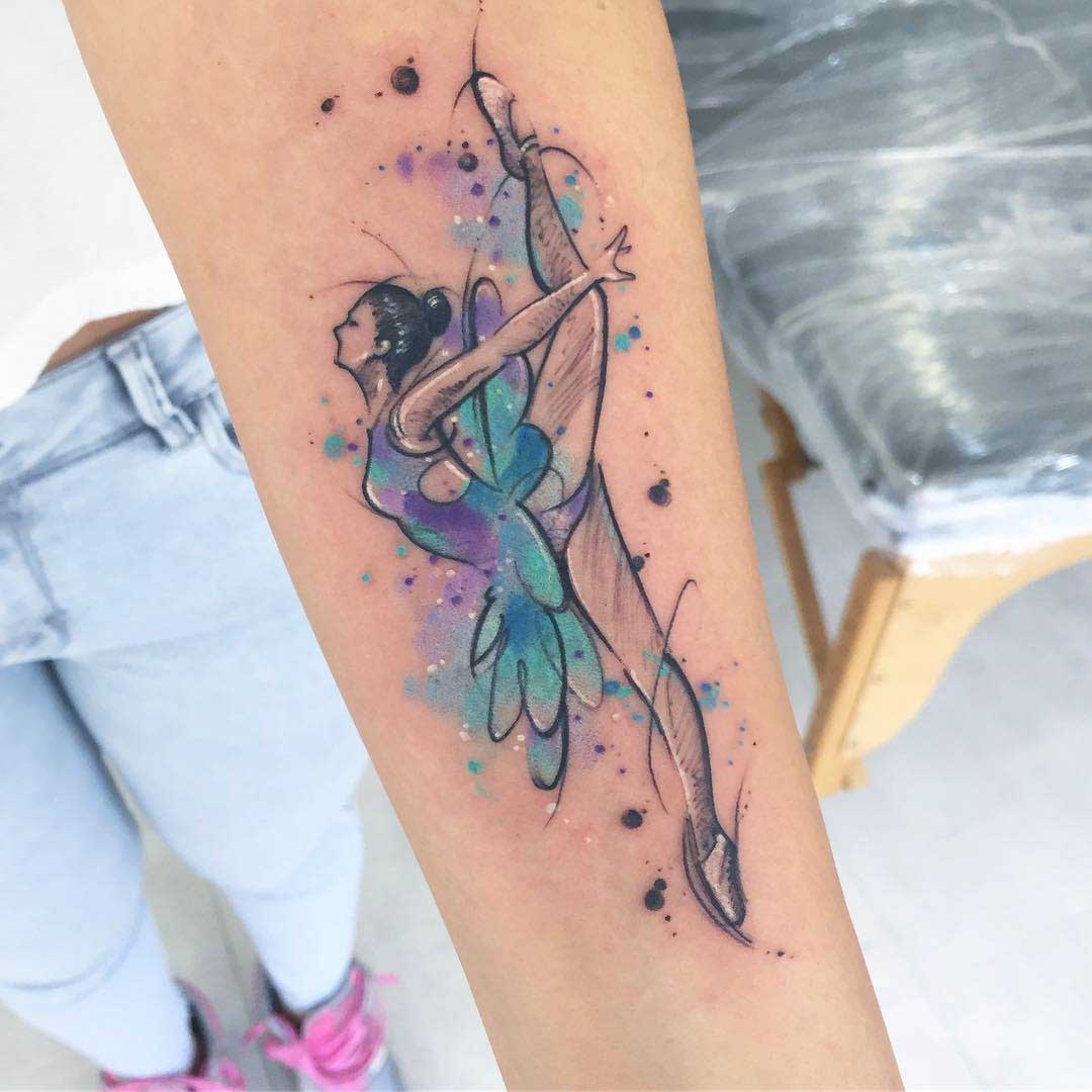 ballerina tattoo