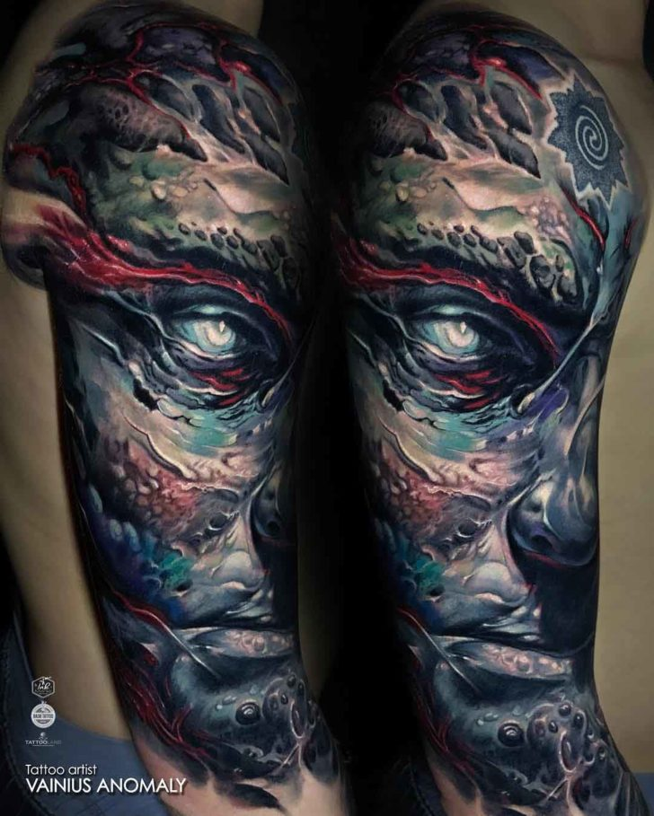 tattoo sleeve titan