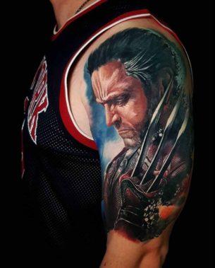 Wolverine Tattoo on Shoulder