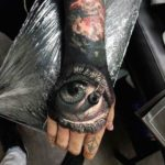 3D Eye Tattoo on Hand