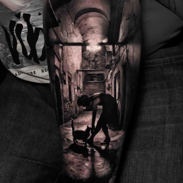 abandoned house tattoo