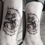 Ankle Anchor Tattoo