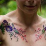 Collar Bone Tattoos Flowers