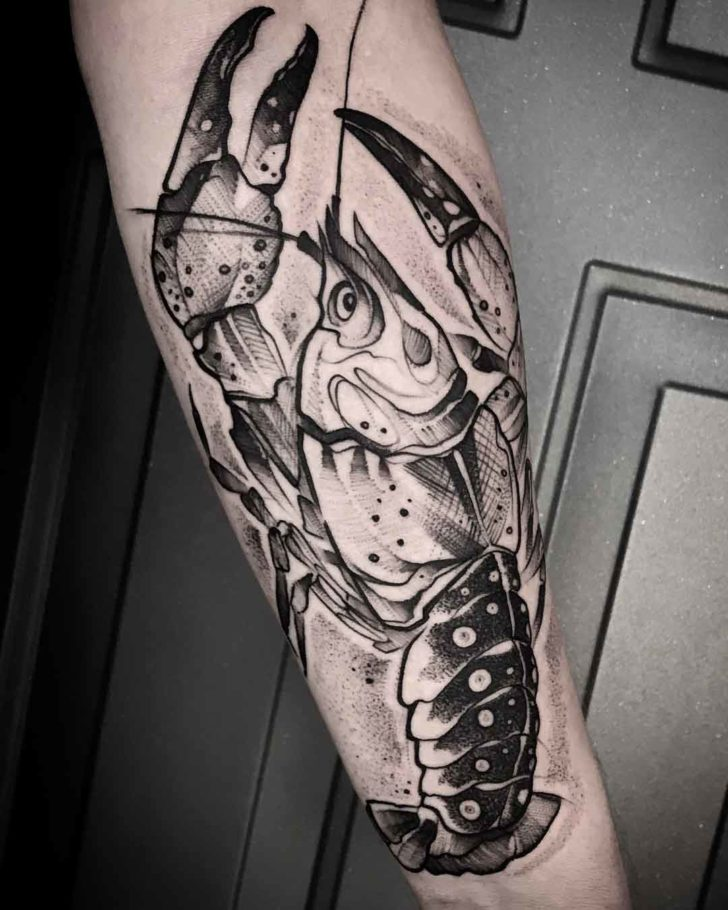 arm tattoo crayfish