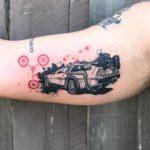 DeLorean Tattoo Back to The Future