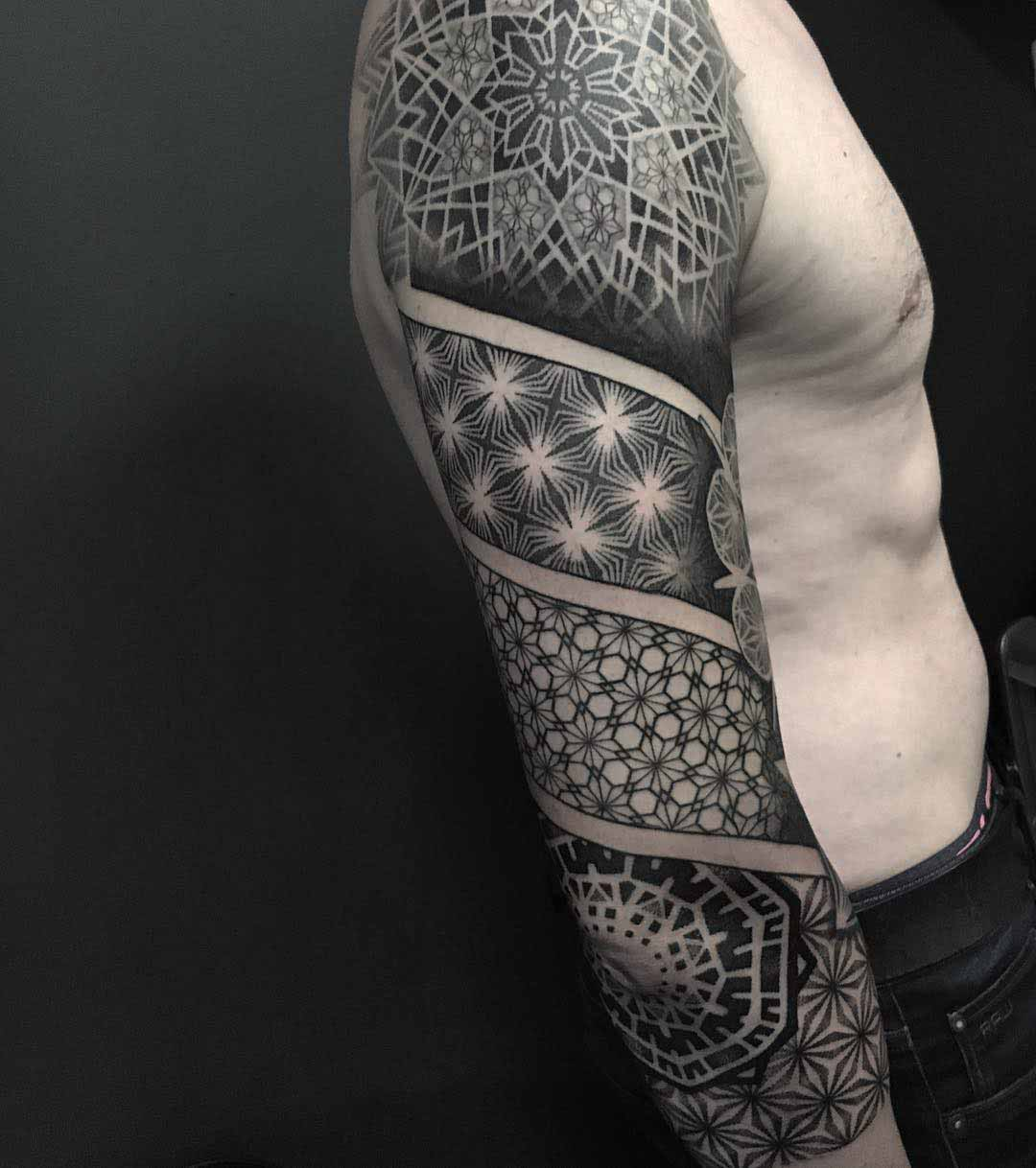 tattoo sleeve dotwork pattern