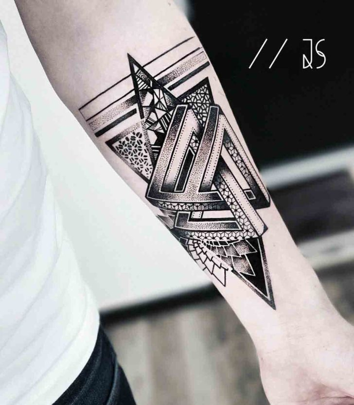 penrose triangles tattoo dotwork style