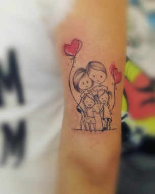 Happy Family Tattoo