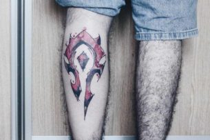 Horde Tattoo on Calf