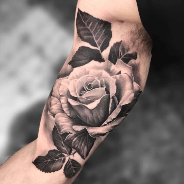 Inner Bicep Tattoo Rose Best Tattoo Ideas Gallery
