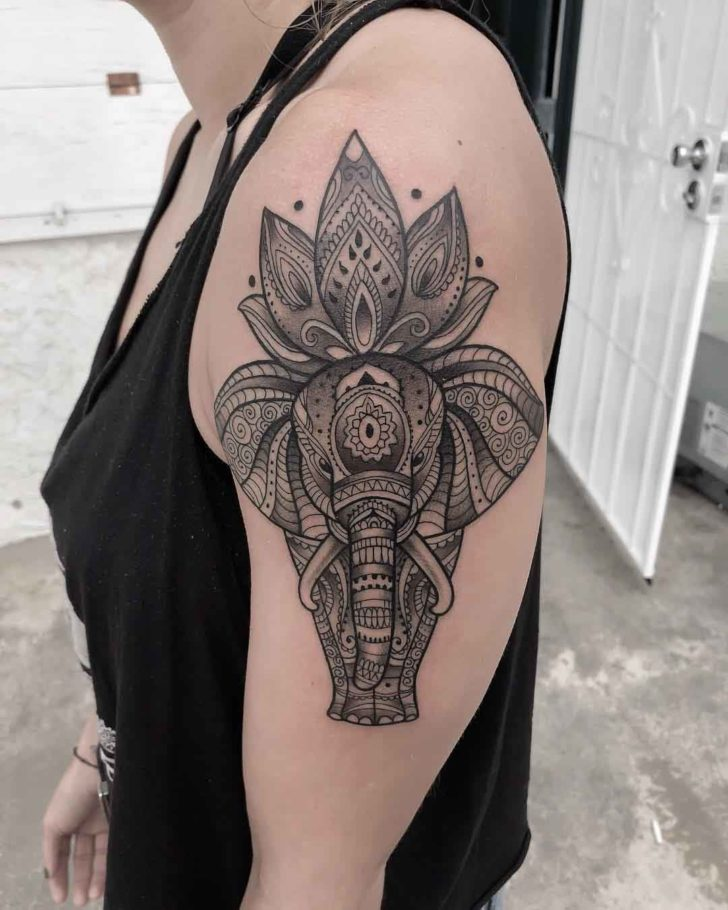 shoulder tattoo elephant
