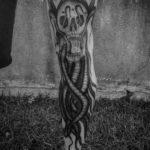 Octopus Skull Tattoo on Leg