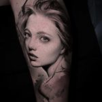 Real Girl Portrait Tattoo