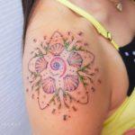 Shell Starfish Tattoo on Shoulder