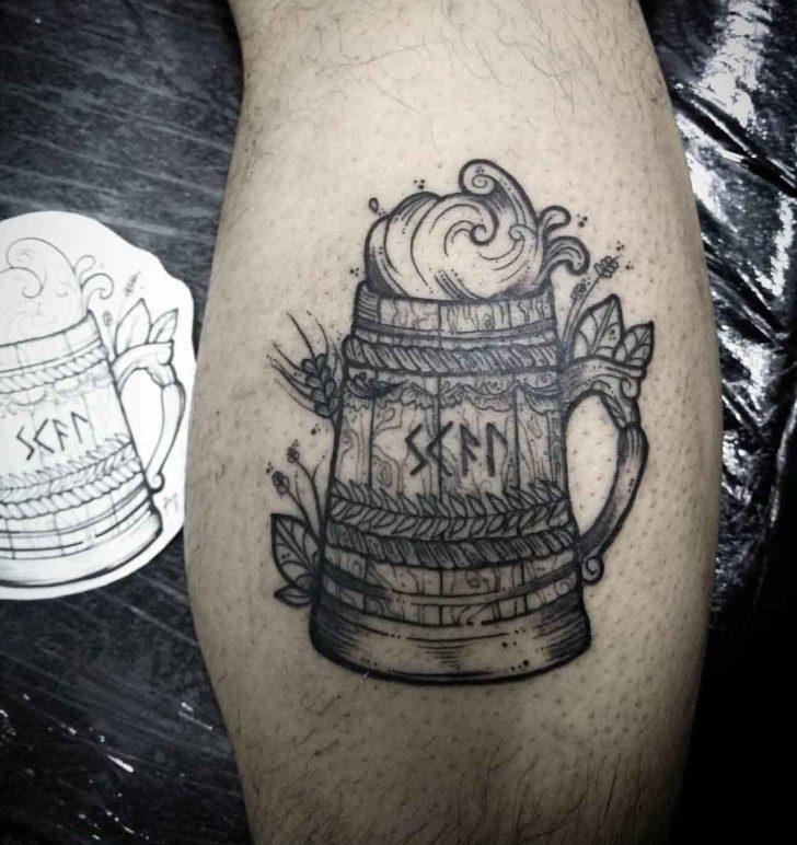 beer tattoo scandinavian