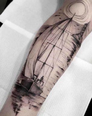 Sunset Tattoo Sailing