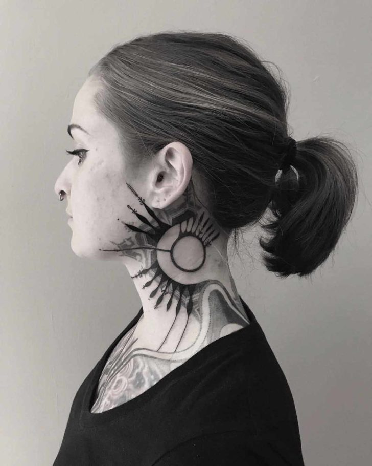 neck tattoo geometry