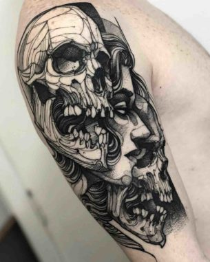 Two Skulls Tattoo