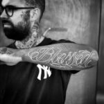 White Blessed Tattoo