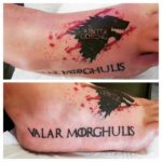 Winter Comming Tattoo on Foot