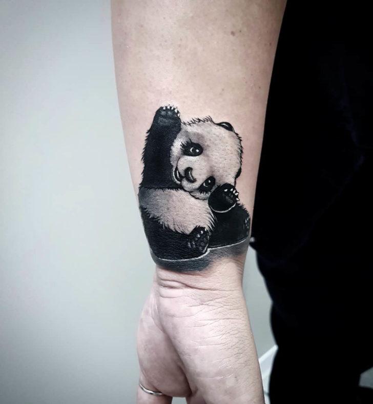wrist tattoo panda