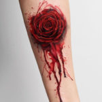 Blood Rose Tattoo