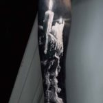 Candle Skull Tattoo on Arm