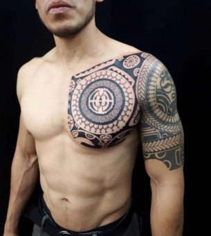 Chest Tattoo Maori