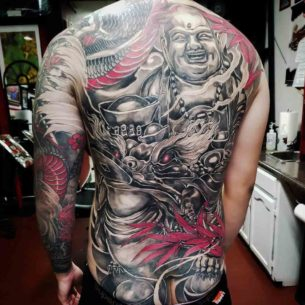 Chinese Back Tattoo