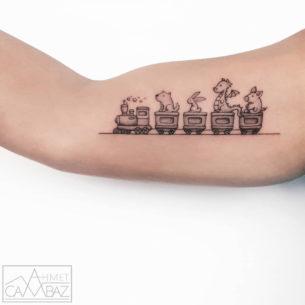 Cute Train Tattoo