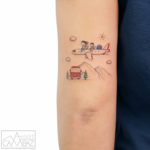 Cute Travel Tattoo