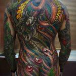 Full Back Organic Tattoo