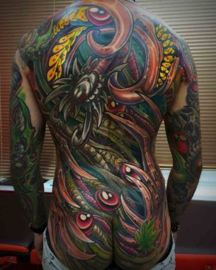 Full Back Organic Tattoo