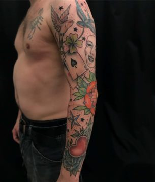 Full Traditional Tattoo Sleeve