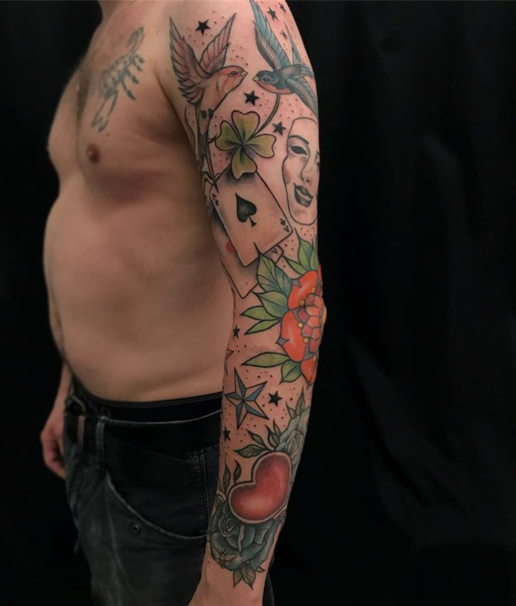 tattoo sleeve traditional