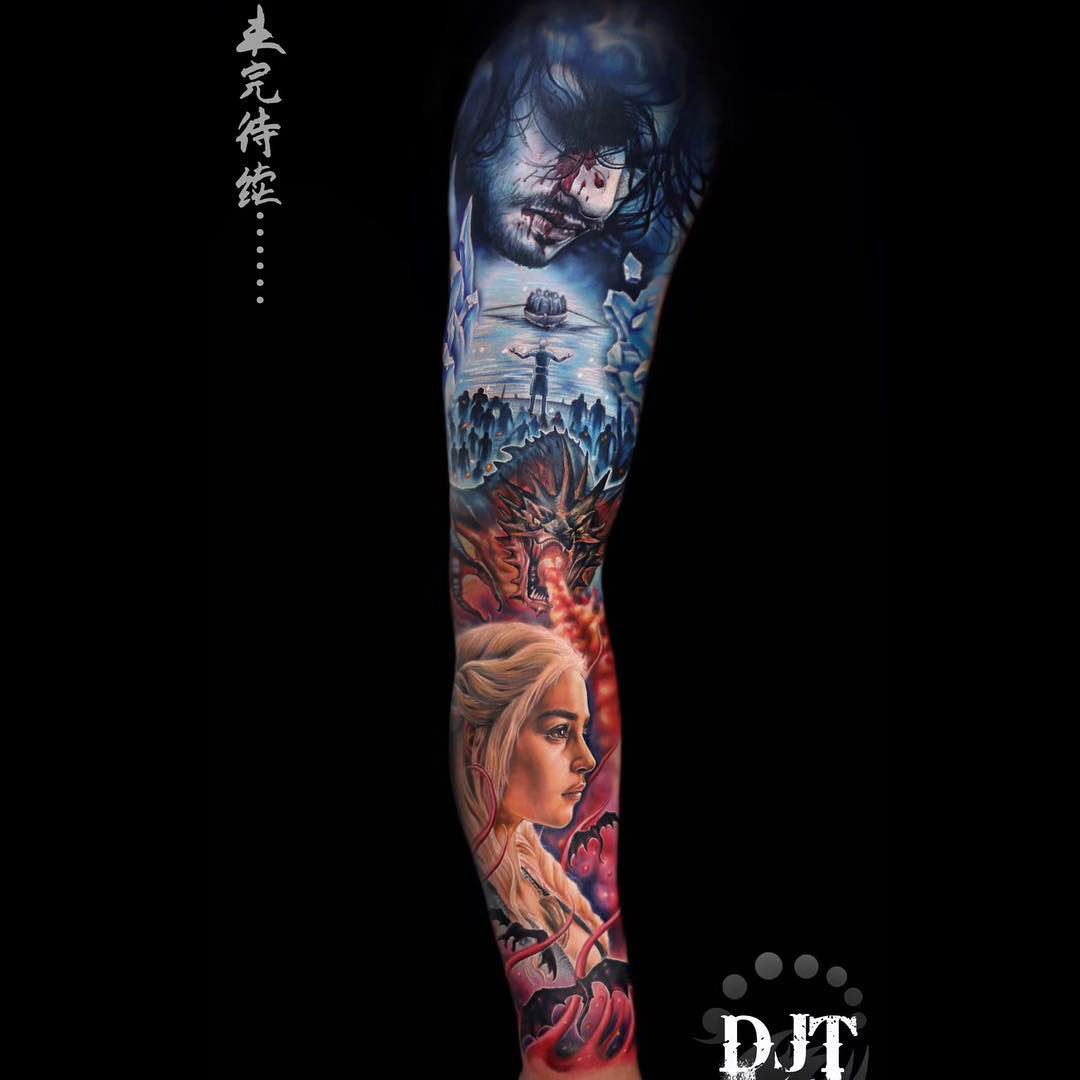 tattoo sleeve game of thrones