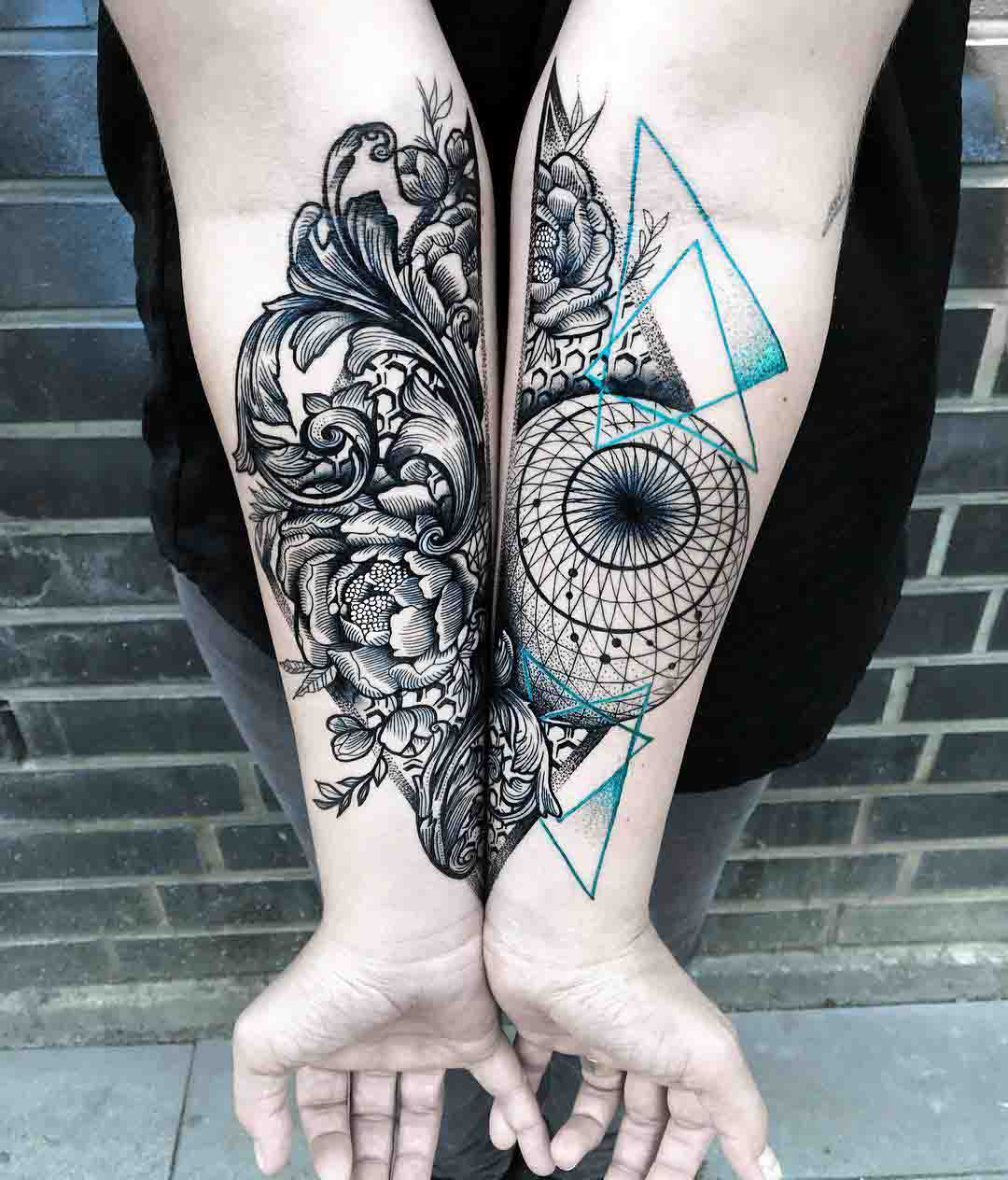 forearm tattoo baroque