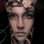 Girl Realistic Portrait Tattoo