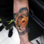 Lion Rose Tattoo