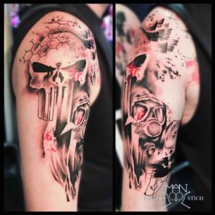 Punisher Tattoo Trash Polka