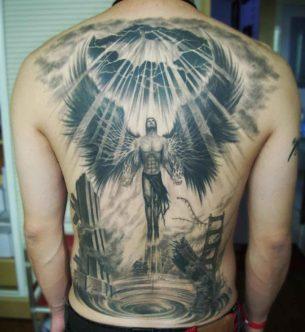 Rising Angel Tattoo