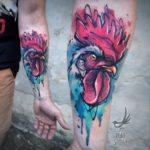 Rooster Tattoo on Forearm