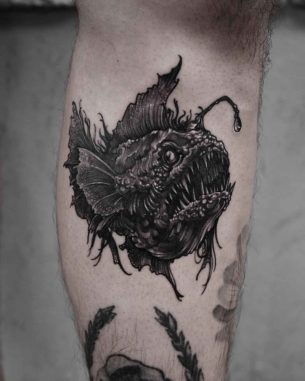 Sea Devil Fish Tattoo