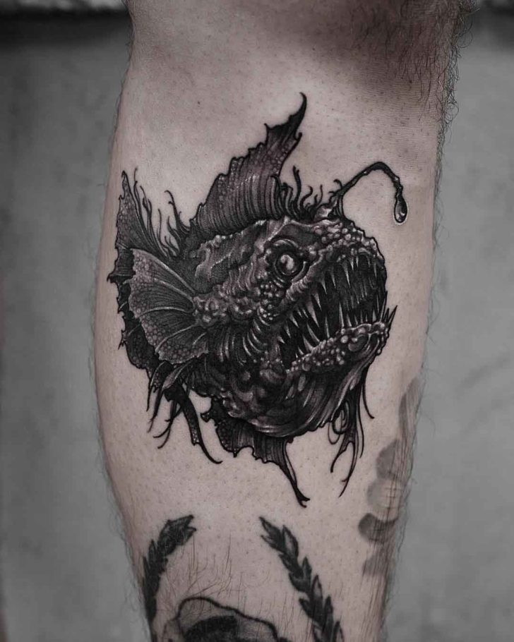 fish devil tattoo